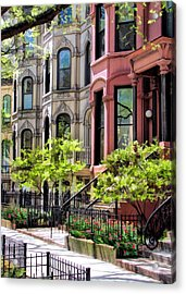Acrylic Print featuring the painting Chicago North Shore Greystones by Christopher Arndt