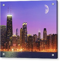 Chicago Oak Street Beach Acrylic Print by Donald Schwartz