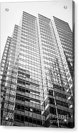 Chicago Office Building  Black And White Photo Acrylic Print by Paul Velgos