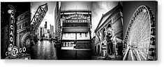 Chicago Panorama Collage High Resolution Photo Acrylic Print by Paul Velgos