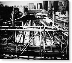 Chicago Railroad Yard Acrylic Print by Kyle Hanson