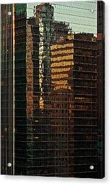 Chicago Reflected Acrylic Print by Steve Gadomski
