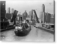 Chicago River 1941 Acrylic Print