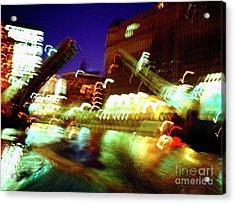 Chicago River Bridge #1  Acrylic Print