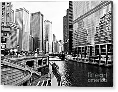 Chicago River Buildings Architecture Acrylic Print