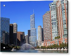 Chicago River Acrylic Print