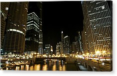 Chicago River Nights Acrylic Print
