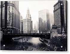 Chicago River Skyline Acrylic Print