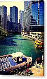 City Of Chicago - River Tour Acrylic Print