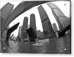 Chicago Sailboats Heading To Harbor Acrylic Print by Sven Brogren