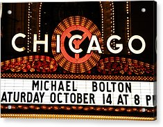 Chicago Sign - Chicago Theater Acrylic Print by Dmitriy Margolin