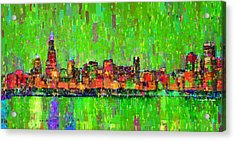 Chicago Skyline 206 - Pa Acrylic Print by Leonardo Digenio