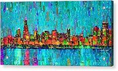 Chicago Skyline 207 - Pa Acrylic Print by Leonardo Digenio