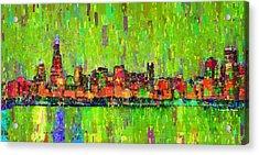 Chicago Skyline 208 - Pa Acrylic Print