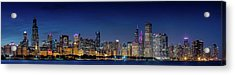 Acrylic Print featuring the photograph Chicago Skyline After Sunset by Emmanuel Panagiotakis