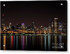 Chicago Skyline Acrylic Print by Andrea Silies