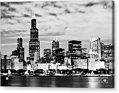 Chicago Skyline At Night Acrylic Print by Paul Velgos