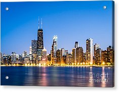 Chicago Skyline At Twilight Acrylic Print by Paul Velgos