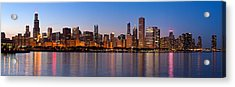 Chicago Skyline Evening Acrylic Print