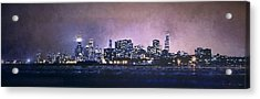 Chicago Skyline From Evanston Acrylic Print by Scott Norris