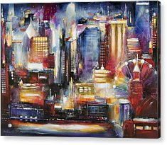 Chicago Skyline From Navy Pier Acrylic Print