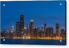 Chicago Skyline From North Ave Beach Acrylic Print by Steve Gadomski