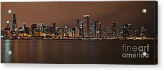 Chicago Skyline Panorama Acrylic Print