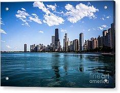 Chicago Skyline Photo With Hancock Building Acrylic Print by Paul Velgos