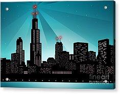 Chicago Skyline Acrylic Print by Sandra Hoefer