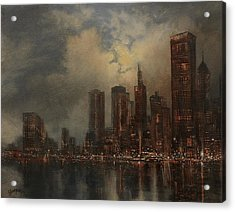Chicago Skyline Acrylic Print by Tom Shropshire