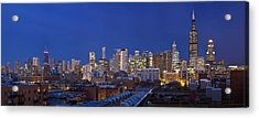 Chicago Skyline West Side Acrylic Print
