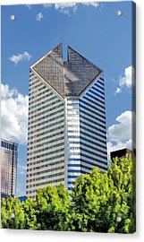 Acrylic Print featuring the painting Chicago Smurfit-stone Building by Christopher Arndt