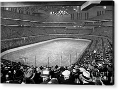 Chicago Stadium Prepared For A Chicago Blackhawks Game Acrylic Print