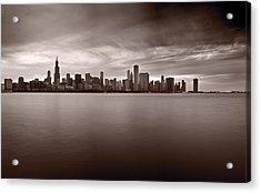 Chicago Storm Acrylic Print by Steve Gadomski