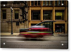 Chicago Street Acrylic Print by Mike Burgquist
