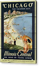 Chicago The Vacation City - Vintage Poster Folded Acrylic Print