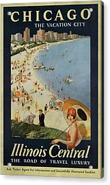Chicago The Vacation City - Vintage Poster Vintagelized Acrylic Print
