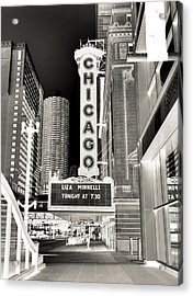 Chicago Theater - 2 Acrylic Print by Ely Arsha