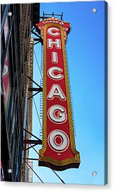 Chicago Theater Marquee Morning Acrylic Print by Steve Gadomski