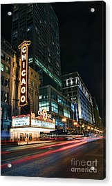 Chicago Theatre Acrylic Print by Eddie Yerkish