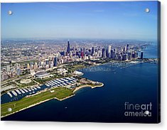 Chicago To North 2 Acrylic Print by Bill Lang