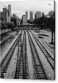Chicago Tracks To The Foggy City  Acrylic Print