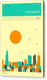 Chicago Travel Poster Acrylic Print