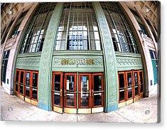 Chicago Union Station Fisheye Acrylic Print by John Rizzuto