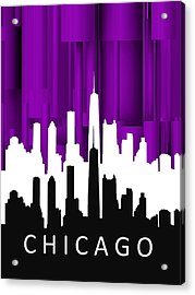 Chicago Violet In Negative Acrylic Print