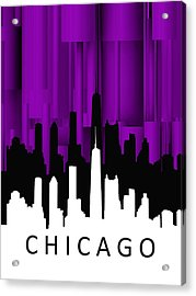 Chicago Violet Vertical  Acrylic Print