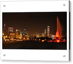 Chicago White Sox Skyline Acrylic Print by Patrick  Warneka
