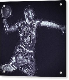 #chicagobulls #chicago #bulls #rose Acrylic Print