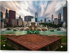 Chicago's Buckingham Fountain Acrylic Print by Sean Foster