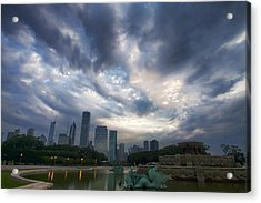 Chicago's Buckingham Fountain When It's Turned Off Acrylic Print